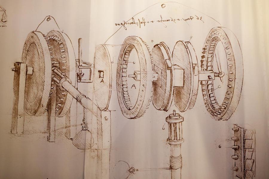"Exposition ""projets, dessins, machines"" de LŽonard De Vinci ˆ la"