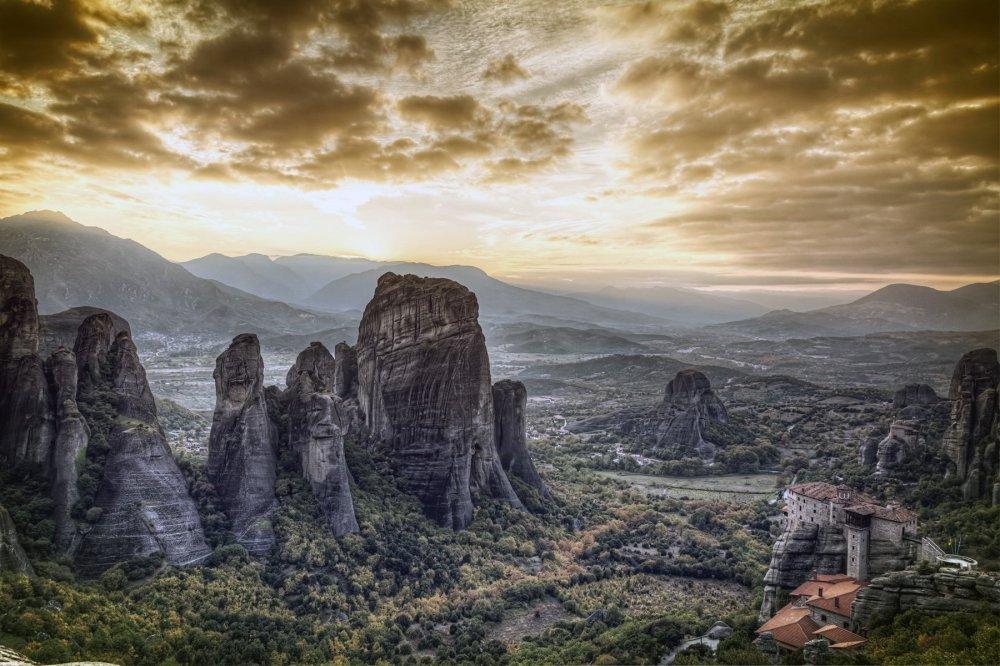 monastere orthodoxe des Météores région de Thessalie en Grece