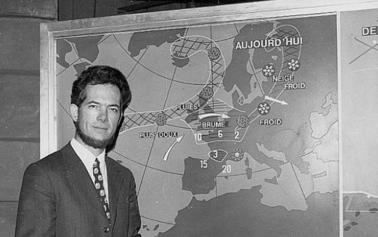 bulletin météo en 1973 en France
