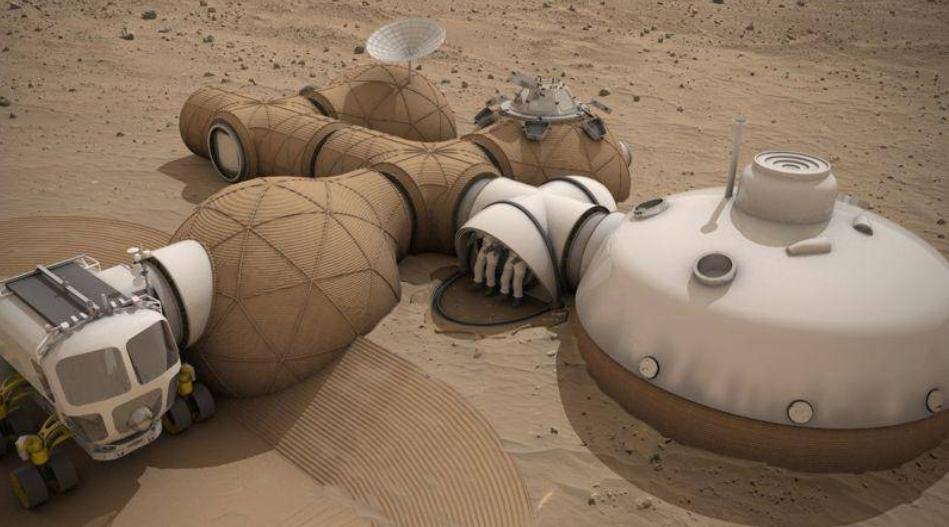 Différents projets d'habitations sur Mars