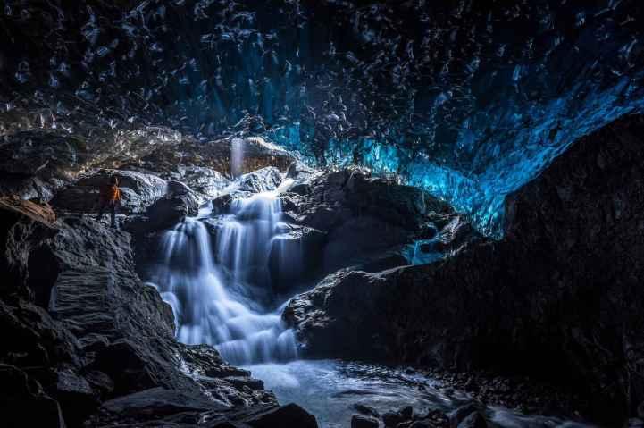 Grotte de cristal parc national de Vatnajökull Islande