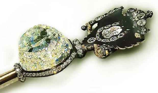 Diamant Orlov sur le sceptre russe