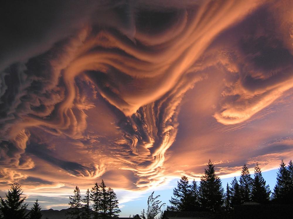 nuages Asperatus en Nouvelle Zelande