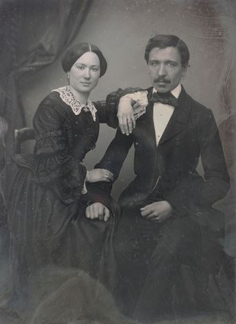 Portrait d'un couple par N. Cosse - 1860