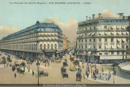 galeries-lafayette-paris-débuts