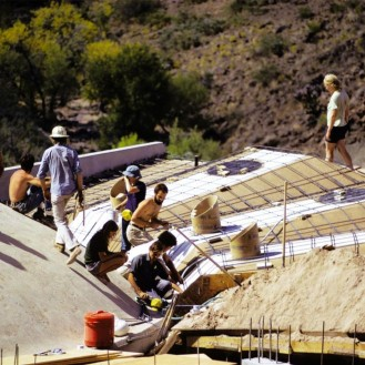 Arcosanti construction 1960 archives Cosanti Foundation
