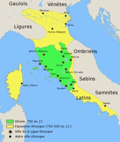 Etrusques carte