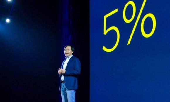 Xiaomi 5%