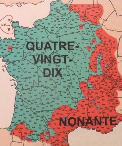 Carte France utilisation de Nonante début 20eme siècle